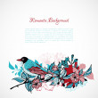 Floral romantic background — Imagen vectorial