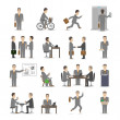 Office people set — Stock Vector
