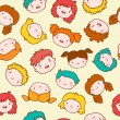 Doodle kids background — Imagen vectorial