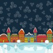 Christmas house background — Stock Vector