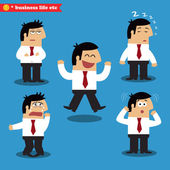 Manager emotions in poses — Stock Vector