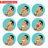 Emoções facial chefe — Vetor de Stock