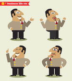 President emotions in poses — Stock Vector