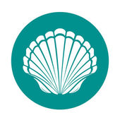 Scallop sea shell — Stock Vector