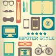 Flat hipster set of web elements — Stok Vektör
