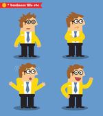 Business emotions icons — Stock Vector