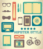 Flat hipster set of web elements — Stock Vector