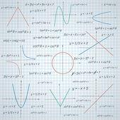 Mathematics paper background — Stock Vector