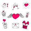 Love icons set — Image vectorielle