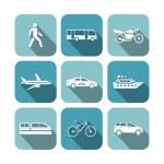 Transportation icons set — Stock Vector #36758587
