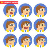 Employee facial emotions — Stock Vector