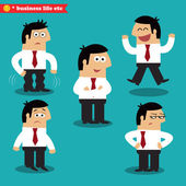 Office emotions in poses — Stock Vector
