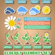 Green eco infographic elements — Stock Vector