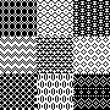 Seamless pixel patterns set — Stock Vector