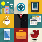Business set of generic icons — Stockvector