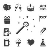 Celebration iconset, contrast flat — Stock Vector