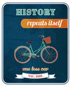 Hipster bicycle promo poster — Vector de stock