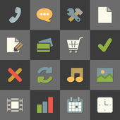 Online shopping website iconset, color flat — Stock Vector