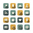 Vintage social media icons set — Stock Vector