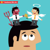 Moral choice, business ethics and temptation — Stock Vector
