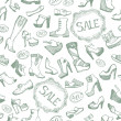 Seamless shoes background — Stock Vector