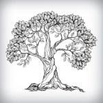 Hand drawn tree symbol — Stock Vector #37340539