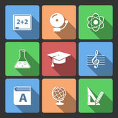 Iconset for educational app — Stock Vector