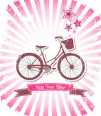 Ride your bike banner — Stock Vector