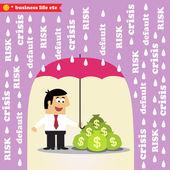 Money risk management — Stock Vector