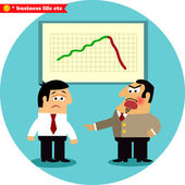 Angry boss blames manager — Stock Vector