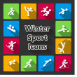 Stock Vector: Winter sports iconset