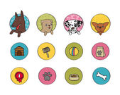 Dogs icons set — Stock Vector