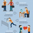 People relations infographics elements — Stok Vektör #38236441