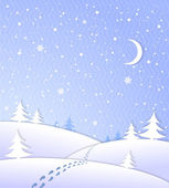 Winter background with falling snow — Stock Vector