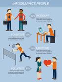 People relations infographics elements — Stock Vector