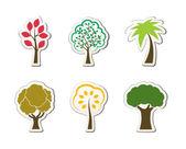 Tree symbols for green web design — Stock Vector