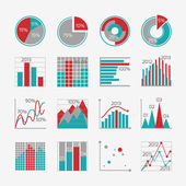 Infographic elements for business report — Vetorial Stock