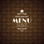 Restaurant cafe menu cover template — Stock Vector
