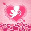 Valentines day angel of love — Stock Vector