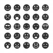 Постер, плакат: Smiley faces icons set of emotions