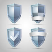 Set of shield icons — Stock Vector