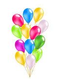 красочные воздушные шары пакет — Cтоковый вектор