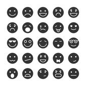 Smiley faces icons set of emotions — Stock Vector