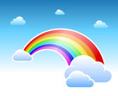 Abstract rainbow and clouds symbol — Vetorial Stock