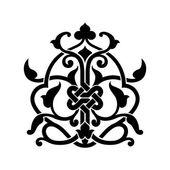 Abstract arabic tattoo — Stock Vector