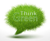 Think green concept on grass — Vettoriale Stock