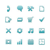 Pixel icons set for navigation — Stock Vector