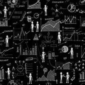 Bezešvé chalk Rady doodle webových grafů pozadí — Stock vektor
