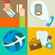 Stock Vector: Business travel infographics icons set
