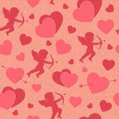 Valentine day seamless romantic pattern — Stock Vector